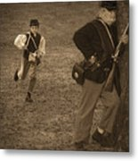 U. S. Civil War Messenger Boy On The Run Metal Print