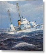 U. S. Coast Guard Cutter Sebago Takes A Roll Metal Print
