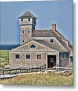 U S Lifesaving Station Metal Print