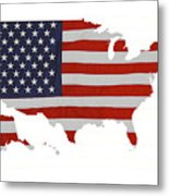 U S Map Stars N Stripes  Metal Print