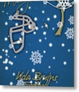 Ucla Bruins Christmas Card Metal Print