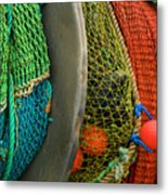 Ucluelet Fishing Nets Metal Print