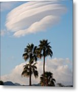 Ufo Cloud Over Palm Springs Metal Print
