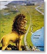 Uganda Railway - British East Africa - Retro Travel Poster - Vintage Poster Metal Print