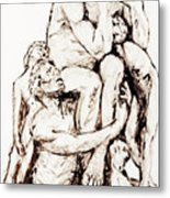 Ugolino And His Sons Metal Print