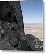 Uh-60 Black Hawk Crew Chief Takes Metal Print