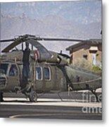 Uh-60 Black Hawk Helicopter At Pinal Metal Print