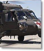 Uh-60 Black Hawk Refuels Metal Print