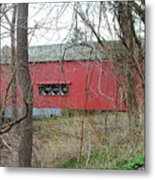 Uhlerstown Covered Bridge Metal Print