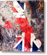 Uk Flag Map Metal Print