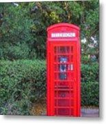 U.k. Phone Booth Metal Print