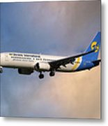 Ukraine International Airlines Boeing 737-8eh Metal Print