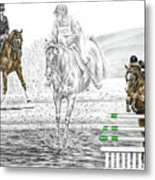 Ultimate Challenge - Horse Eventing Print Color Tinted Metal Print