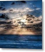 Ultra Blue Sunrise Metal Print