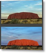 Uluru Sunset Metal Print