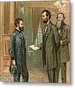 Ulysses S. Grant With Abraham Lincoln Metal Print