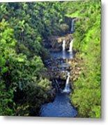 Umauma Falls Hawaii Metal Print by Daniel Hagerman