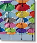 Umbrella Rainbow Metal Print
