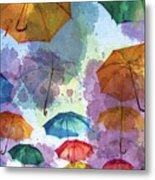 Umbrella Sky Metal Print