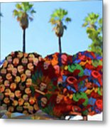 Umbrellas Day Of The Dead Paint  Metal Print
