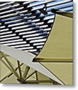 Umbrellas Metal Print