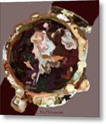 Umbria Florals Timepiece Metal Print