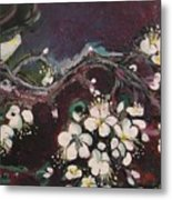 Ume Blossoms Metal Print