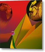 Unbalanced-the Source Of Violence Metal Print