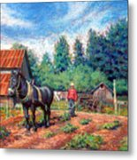 Uncle Frank And Bully Metal Print