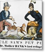 Uncle Sam: Cartoon, 1840 Metal Print