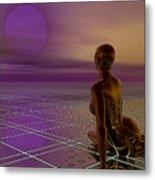 Under A Purple Moon Metal Print