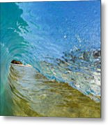 Under Breaking Wave Metal Print