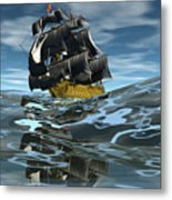 Under Full Sail Metal Print by Claude McCoy