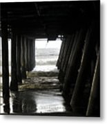 Under Santa Monica Pier Metal Print
