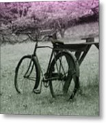 Under The Blossoms Metal Print