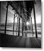 Under The Boardwalk Bw 1 Metal Print