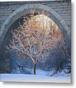 Under The Bridge, A Winter's Song Metal Print
