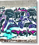 Under The Bridge Graffiti 5 Metal Print