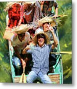 Under The Bridge Vietnamese Smiles  Metal Print