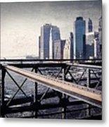 Under The Brooklyn Bridge Metal Print