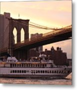 Under The Brooklyn Bridge  Metal Print
