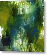 Under The Canopy- Abstract Art By Linda Woods Metal Print