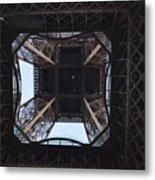 Under The Eiffel Metal Print