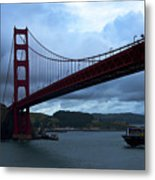 Under The Golden Gate In Early Morning Light  Metal Print
