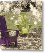 Under The Magnolia Tree Metal Print