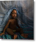 Under The Mosquito Net Metal Print