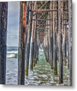 Under The Oceanside Pier Metal Print