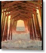 Under The Pier At Dawn Metal Print