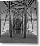 Under The Pier Florida Metal Print