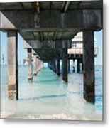 Under The Pier Metal Print by Lynn Jackson